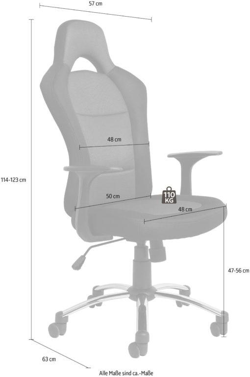 Obrotowe krzesło biurowe czarno-niebieskie