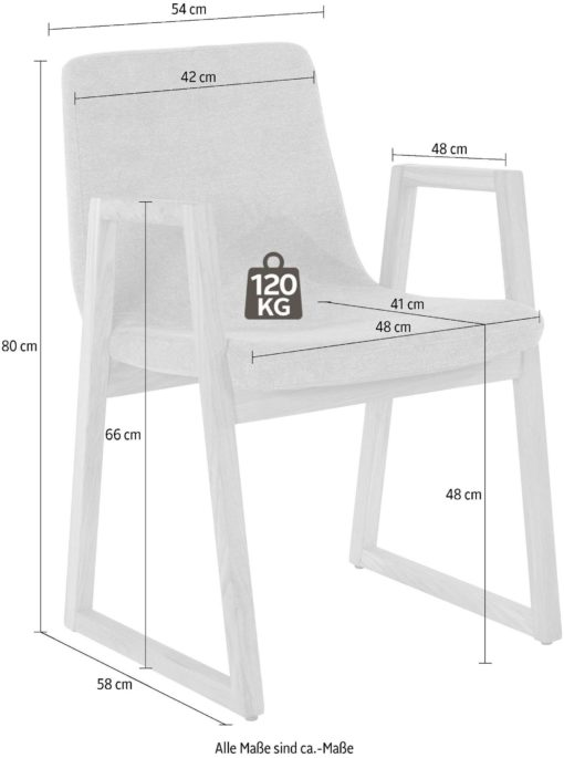 Dębowe fotele z beżową tapicerką, nowoczesne - 2 sztuki