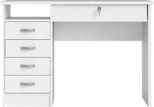 Biurko Plus białe z szufladami, klasyczne