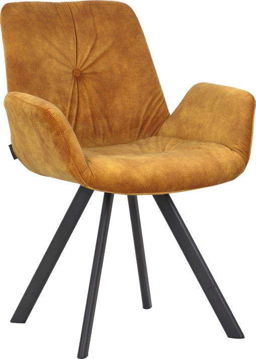 Złote krzesła na metalowej ramie, nowoczesne - 2 sztuki