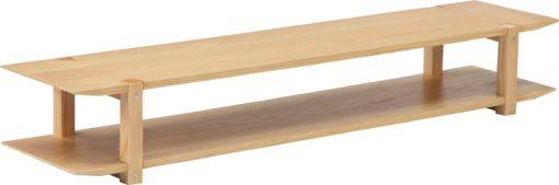 Półka ścienna dwupoziomowa w stylu skandynawski, 120 cm