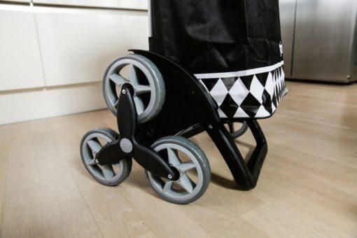 Wózek zakupowy Vileda Gimi, czarny, 56 l