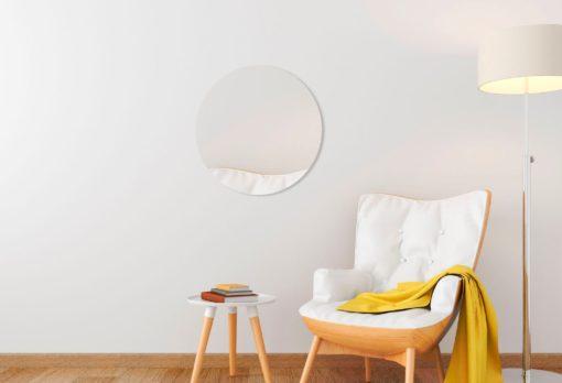 Okrągłe lustro, nowoczesne, bez ramy, 50 cm