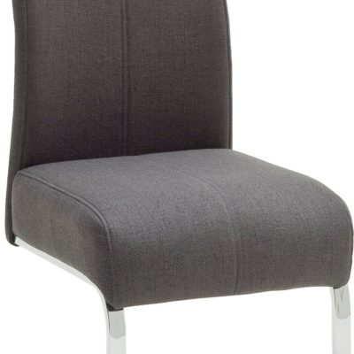 Krzesła do jadalni na płozach, antracytowe - 2 sztuki