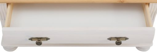 Ławka Susanna wykonana z litej sosny z szufladą