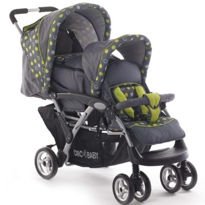 Wózek dziecięcy dla rodzeństwa z dużym koszem CHIC4BABY