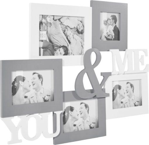 Ramka kolażowa »YOU & ME«, z napisem