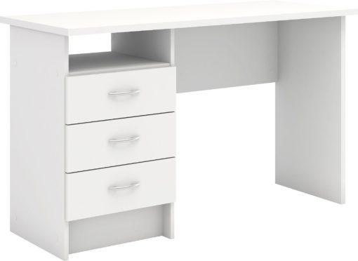 Białe biurko z szufladami, klasyczny design