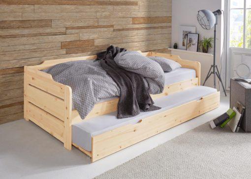 Dwupoziomowa sosnowa sofa do salonu czy sypialni