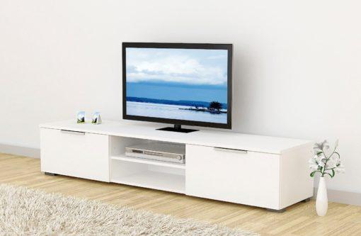 Szafka pod telewizor biała w wysokim połysku