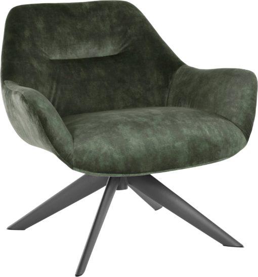 Ponadczasowy fotel w kolorze zielonym, retro styl