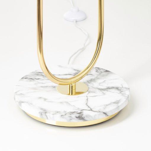 Lampa podłogowa złota podstawa, styl glamour