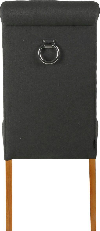Krzesła z kołatką z tyłu, ciemnoszare - 2 sztuki