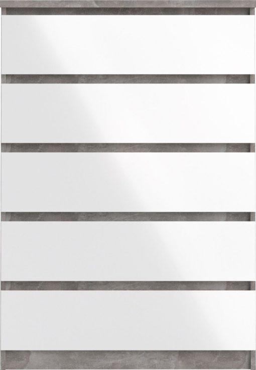 Nowoczesna komoda w kolorach biel, beton