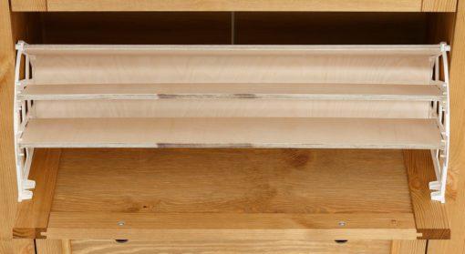Ławka na buty sosnowa, w stylu skandynawskim, naturalna