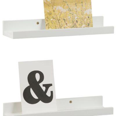 Zgrabne, białe półki na obrazki lub plakaty