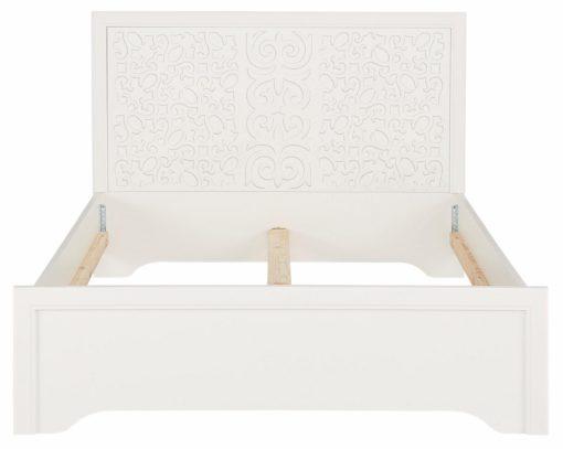 Pięknie zdobione, białe łóżko 140x200 cm
