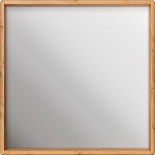 Kwadratowe lustro w solidnej sosnowej ramie