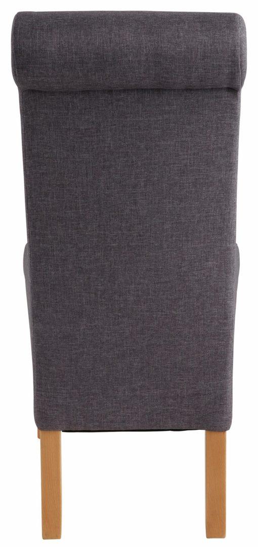 Szare krzesła tapicerowane, bukowe - 2 sztuki