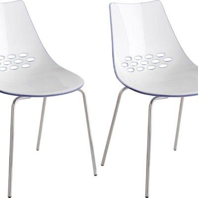 Transparentne krzesła w modernistycznym stylu - 2 sztuki