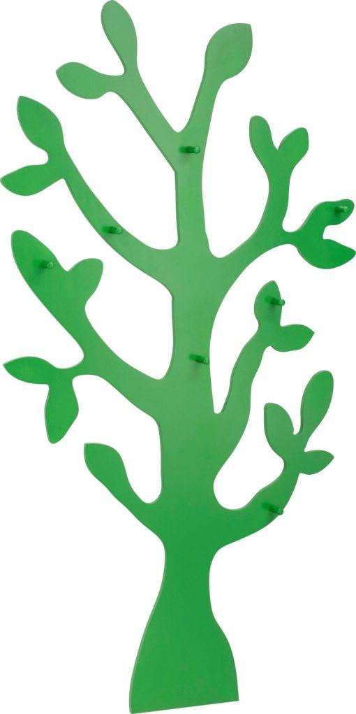 Modny wieszak ścienny w kształcie drzewa - zielony