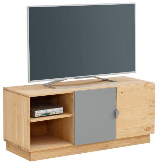 Szafka pod telewizor 106 cm, łączone kolory i materiały