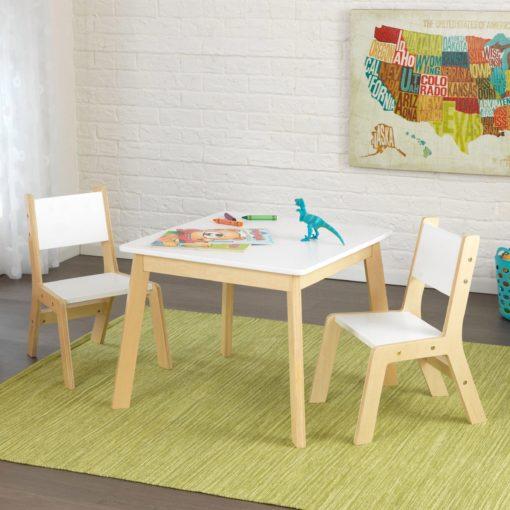 Zestaw mebli dla dzieci KidKraft z drewna, stół i 2 krzesła
