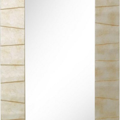 Duże lustro z drewnianą dekoracyjną ramą 60x160 cm