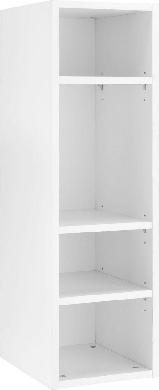Biały regał do zawieszenia na ścianie, 3 półki