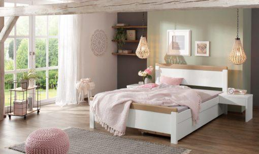 Wygodne, drewniane łóżko w stylu rustykalnym, 90x200 cm