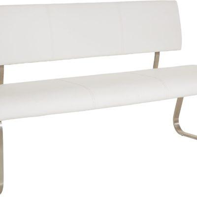 Wyjątkowa ławka pokojowa wykonana ze skóry, biała