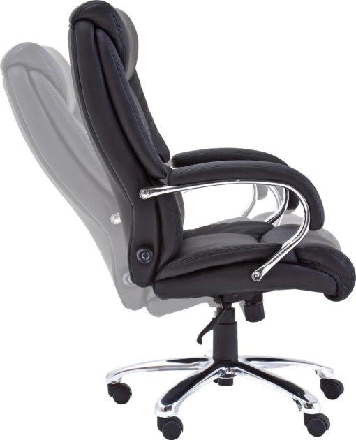 Fotel biurowy z podparciem lędźwiowym i funkcją bujania