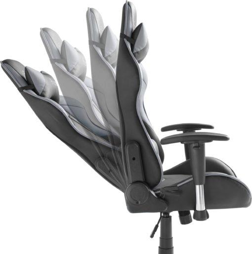 Fotel gamingowy MC Racing z poduszką, czarno-szary