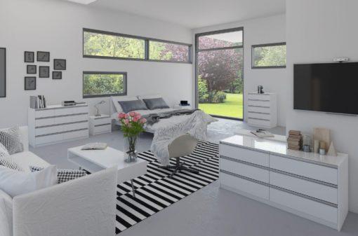Innowacyjna szafka nocna, duński design, biała