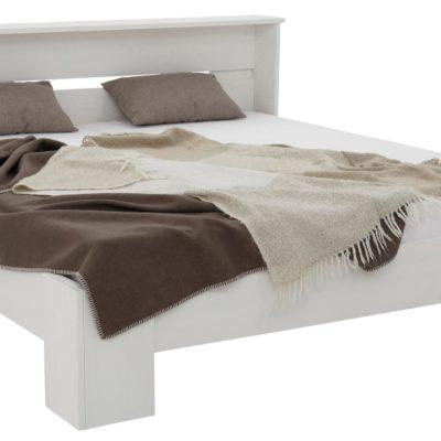 Białe sosnowe łóżko 180x200 cm, wysoki zagłówek
