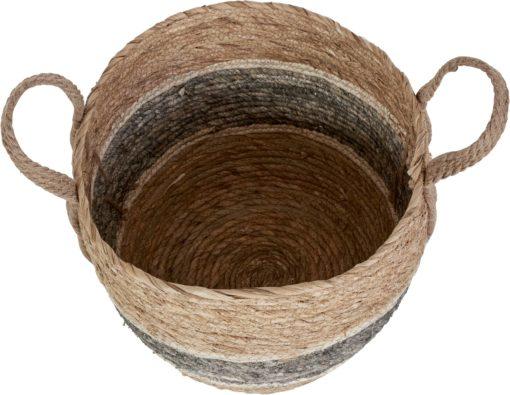 Zestaw trzech kukurydzianych koszy w skandynawskim stylu