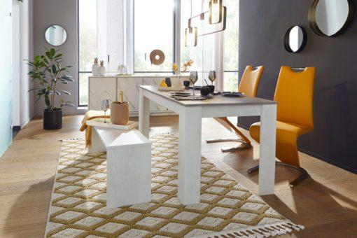 Nowoczesne krzesła w kolorze curry, sztuczna skóra - 2 sztuki