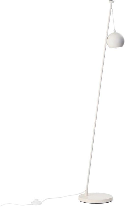 Lampa podłogowa biała, magnetyczny uchwyt na abażur