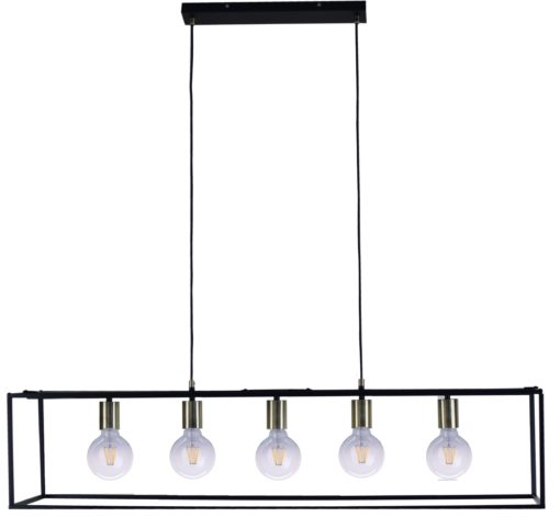 Lampa wisząca w stylu industrialnym, na 5 żarówek
