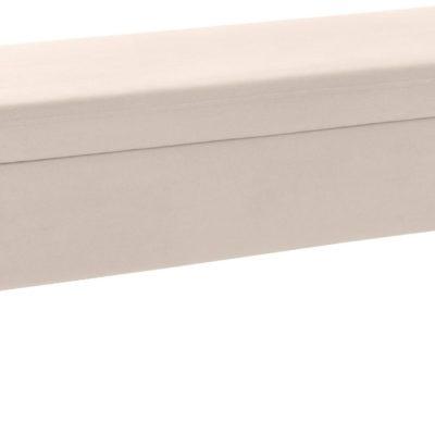 Kremowa ławka ze schowkiem, styl skandynawski