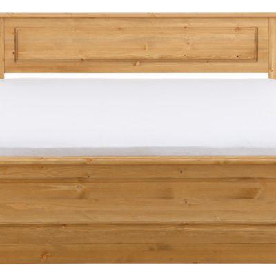 Sosnowe łóżko w rustykalnym stylu, olejowane, 160x200 cm