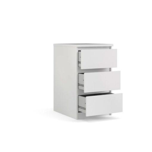 Komoda Naia biała, 3 szuflady