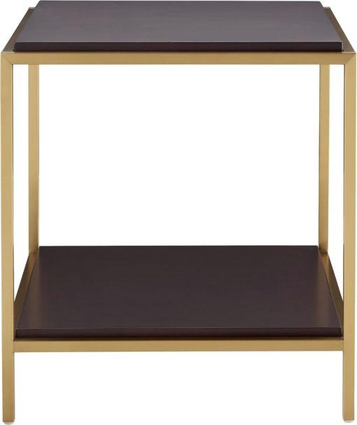 Szlachetny orzechowy stolik ze złota ramą, gamour