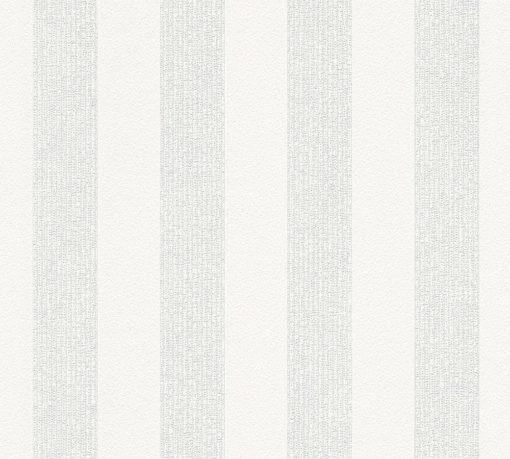 Tapeta fizelinowa, biała, w pasy