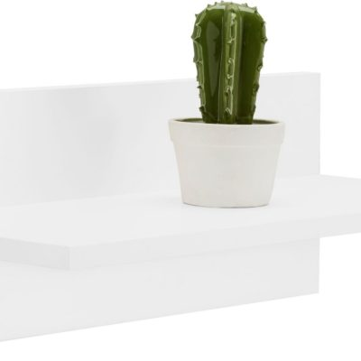 Mała półka ścienna biała, 50 cm szerokości