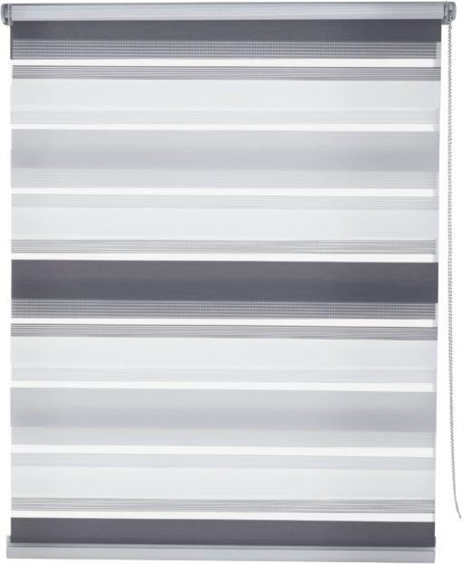 Roleta typu dzień-noc, 50x150cm w odcieniach szarości