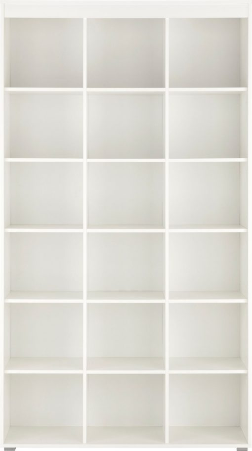 Praktyczny, biały regał, 15 półek