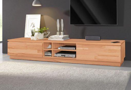 Szafka pod telewizor z bukowym frontem 200cm