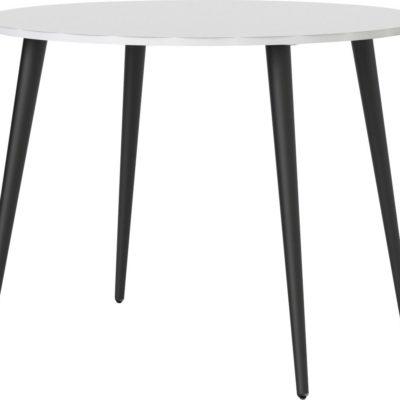 Okrągły stół biało-czarny 100 cm, duński design