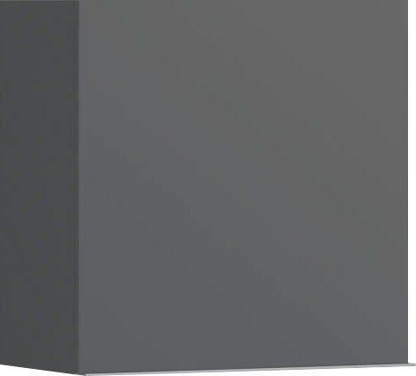 Wisząca szafka antracytowa w połysku